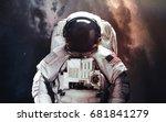 astronaut. abstract space... | Shutterstock . vector #681841279