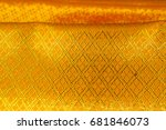 gold cloth texture background  | Shutterstock . vector #681846073