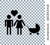 family icon on transparent... | Shutterstock .eps vector #681852418