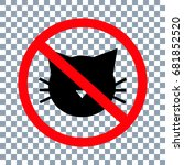 no cats icon on transparent... | Shutterstock .eps vector #681852520