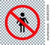 no girl icon on transparent... | Shutterstock .eps vector #681852544