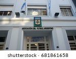 Small photo of BUENOS AIRES, ARGENTINA - JULY 18, 2017: View of the facade of Argentine Football Association (Asociacion del Futbol Argentino, in spanish - 'AFA') building