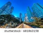 night view of shinjuku... | Shutterstock . vector #681863158