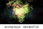 space painting stars void galaxy   Shutterstock . vector #681863710