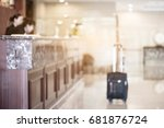 check in and check out at hotel ... | Shutterstock . vector #681876724