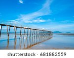 a woody bridge in can gio  a...   Shutterstock . vector #681882559