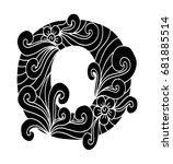 zentangle stylized alphabet.... | Shutterstock .eps vector #681885514