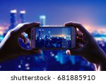 photo camera of a smartphone.... | Shutterstock . vector #681885910