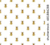 insects bee pattern seamless... | Shutterstock .eps vector #681886288