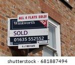 newbury  northbrook street ... | Shutterstock . vector #681887494