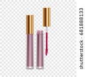 purple lip gloss mockup.... | Shutterstock .eps vector #681888133