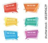 geometric text label   speech... | Shutterstock .eps vector #681890629