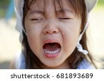 crying japanese girl  2 years... | Shutterstock . vector #681893689
