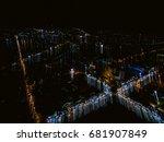 trendy gradient blurred... | Shutterstock . vector #681907849