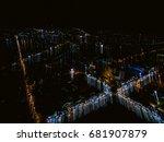 trendy gradient blurred... | Shutterstock . vector #681907879