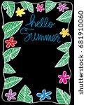 hello summer background.... | Shutterstock .eps vector #681910060