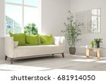 idea of white room with sofa... | Shutterstock . vector #681914050