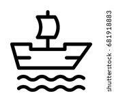 boat icon | Shutterstock .eps vector #681918883