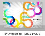cover copybook with abstract... | Shutterstock .eps vector #681919378