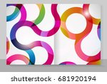 cover copybook with abstract... | Shutterstock . vector #681920194