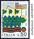 italy   circa 1973  a stamp...   Shutterstock . vector #681928999