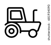 tractor icon | Shutterstock .eps vector #681934090
