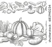 monochrome sketch style... | Shutterstock . vector #681940234
