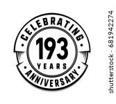 193 years anniversary logo...   Shutterstock .eps vector #681942274
