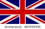 flag of united kingdom of great ... | Shutterstock .eps vector #681943330