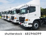 new truck fleet | Shutterstock . vector #681946099