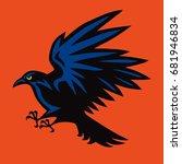 raven logo angry bird sport...   Shutterstock .eps vector #681946834