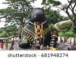 july 08th  2017  mysore ...   Shutterstock . vector #681948274
