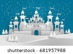 vector illustration of castle... | Shutterstock .eps vector #681957988