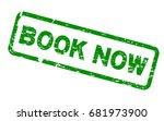 grunge green book now round... | Shutterstock .eps vector #681973900