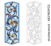 Stained Glass Window In Modern...