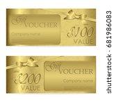 elegant shiny gift voucher with ... | Shutterstock .eps vector #681986083