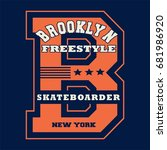 graphic design brooklyn for... | Shutterstock .eps vector #681986920