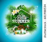 vector summer time holiday... | Shutterstock .eps vector #681988534