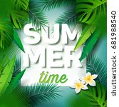 vector summer time holiday... | Shutterstock .eps vector #681988540