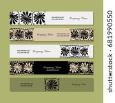 banners design  ethnic floral... | Shutterstock .eps vector #681990550