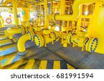 pipeline production and control ... | Shutterstock . vector #681991594