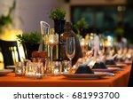 dinner table setting | Shutterstock . vector #681993700