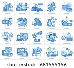 currencies conceptual design | Shutterstock .eps vector #681999196