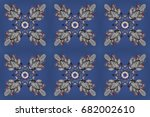 raster illustration. abstract... | Shutterstock . vector #682002610