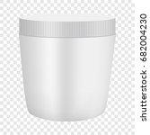 white plastic cosmetic... | Shutterstock .eps vector #682004230