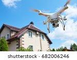 drone quadrocopter usage.... | Shutterstock . vector #682006246