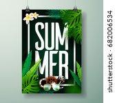vector summer time holiday... | Shutterstock .eps vector #682006534