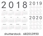 set of european 2018  2019 ... | Shutterstock .eps vector #682013950