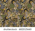 paisley seamless traditional... | Shutterstock . vector #682015660