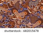 paisley seamless traditional... | Shutterstock . vector #682015678